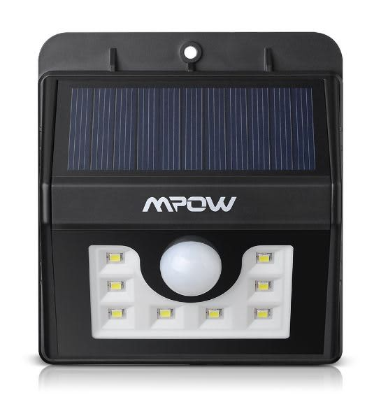 Mpow 8 led solar motion sensor light the security zone mpow 8 led solar motion sensor light mozeypictures Gallery