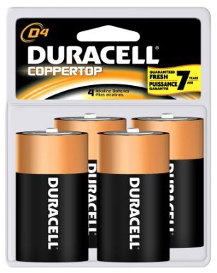Duracell D Cell Batteries (4 pack)