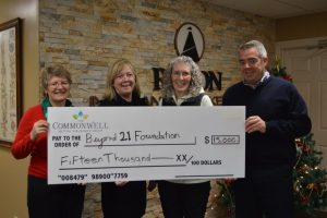 The Commonwell Donates $15K to The Hub for Beyond 21 Foundation