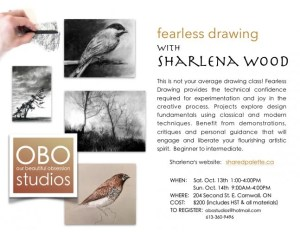 Fearless Drawing (Workshop) @ Cline House Gallery | Cornwall | Ontario | Canada