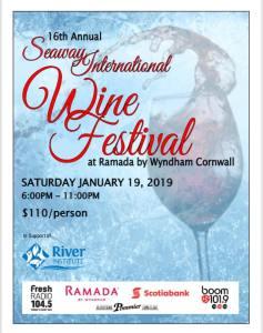 16th Annual Seaway International Wine Festival @ Ramada Inn