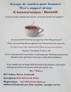 Mentalk Mens Support Group Weekly Meetings @ 841 Sydney St, Cornwall | Cornwall | Ontario | Canada