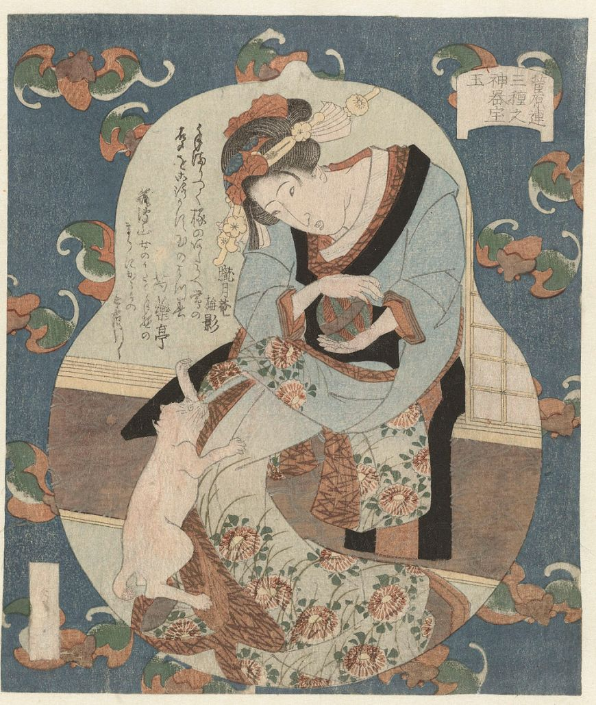 Cat Art by Utagawa Sadakage