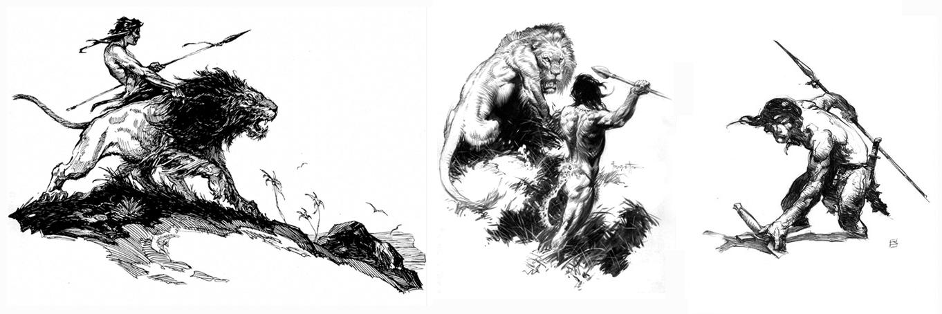 Tarzan, illustrations by Krenkel, Frazetta and Jones
