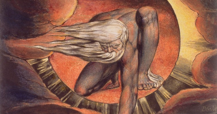 William Blake's Urizen featured in many of his paintings and poetic works