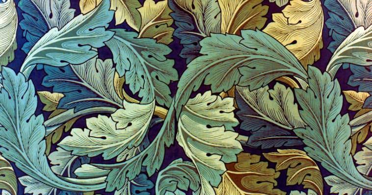 William Morris, Acanthus design, zdroj:https://thesefantasticworlds.com/