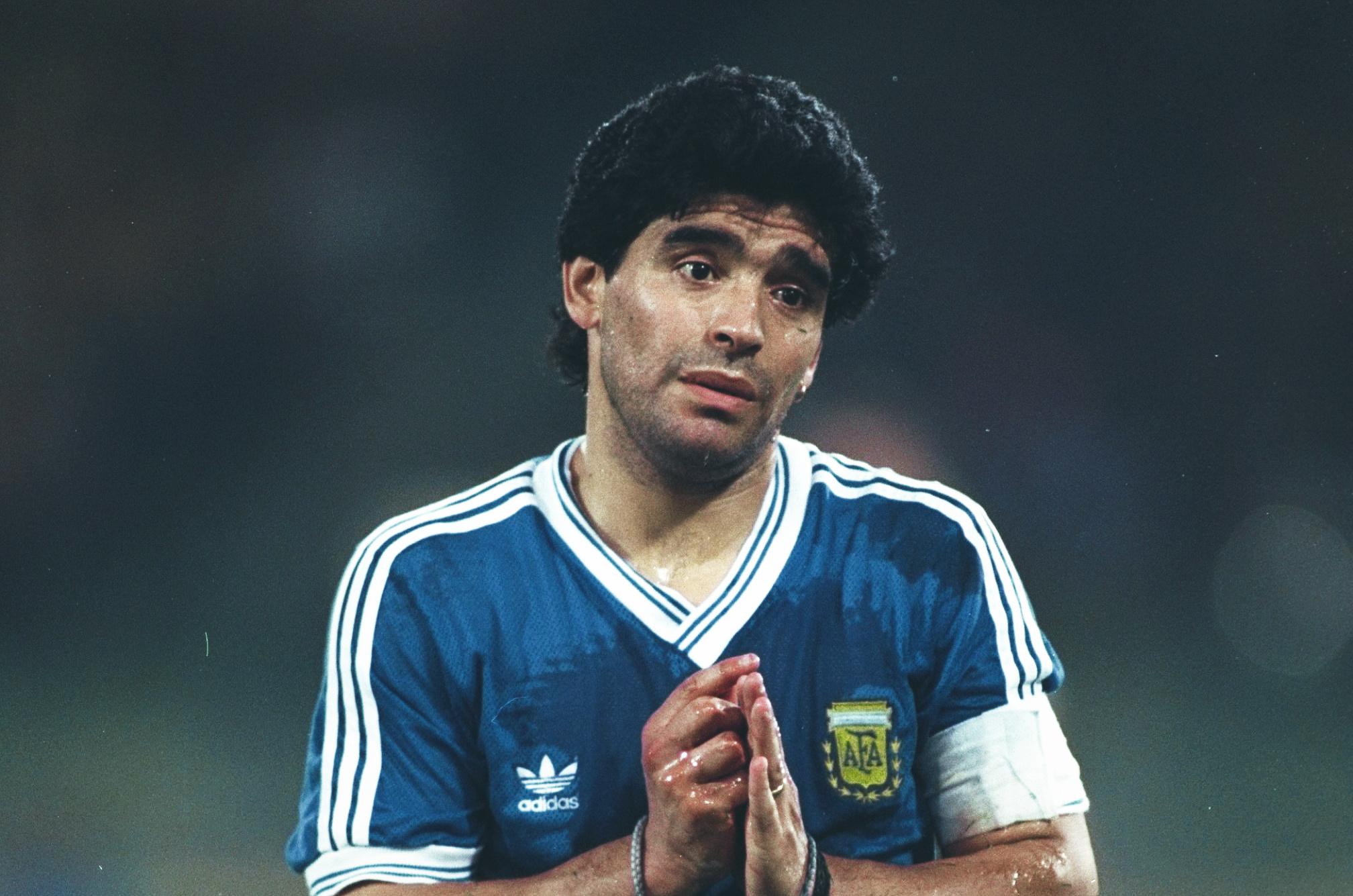 Diego Maradona At World Cup 1990 The Weeping Angel