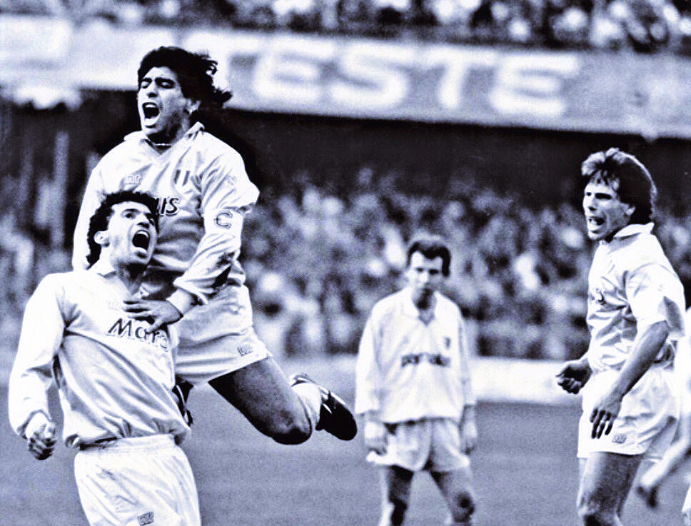 Gianfranco Zola and Diego Maradona at Napoli: the student and the mentor
