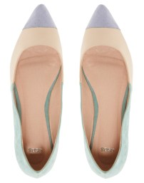 "ASOS colourblock ballet flats £22.00 / Bailarinas ""colourblock"" de ASOS 28,89€"