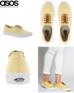 Vans Authentic trainers -available in ASOS- £55.00 / Zapatillas de deporte de Vans Authentic -disponibles en ASOS- 72,22 €