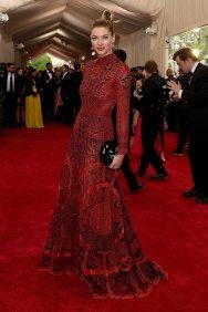 Jessica Hart wears a Valentino dress
