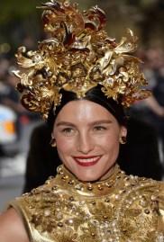 Tabitha wears a Dolce & Gabbana outfit