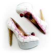 Shoe Bakery Pink Syrup Vanilla Ice Cream Heels