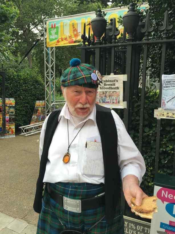 Scotsman London protest