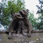 Cardiff animal wall raccoons