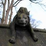 Cardiff animal wall hyena