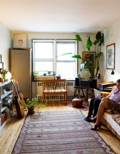 Adriana deleo  designer and simone pace musician at home in new york city li interior design house styles also rh pinterest