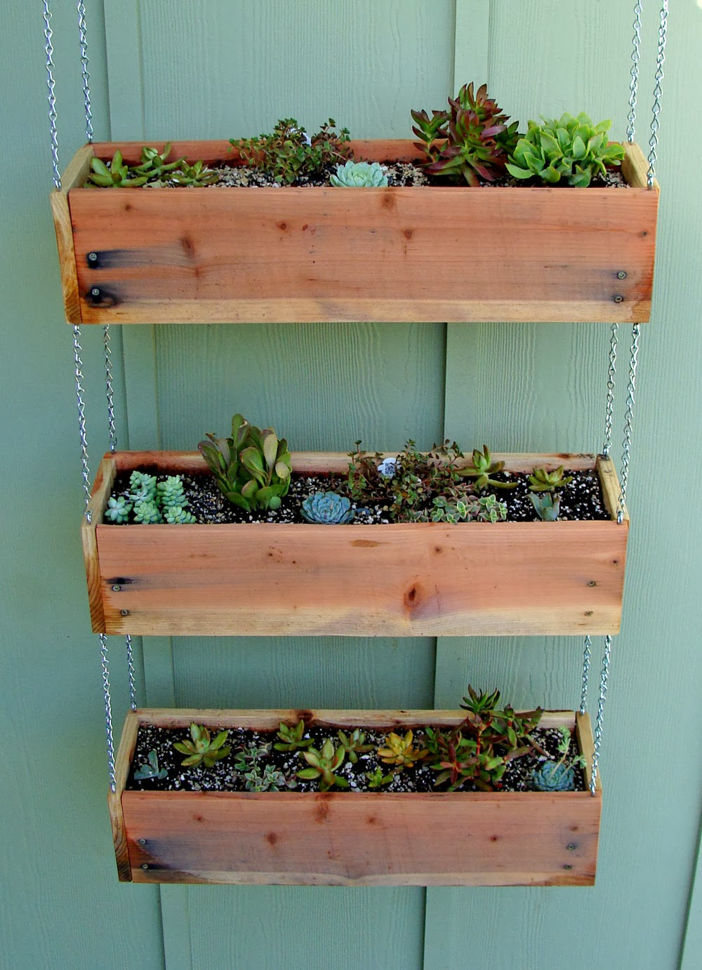 medium resolution of tiered hanging planter boxes
