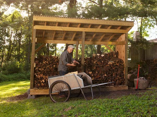 simple wood shed plans free