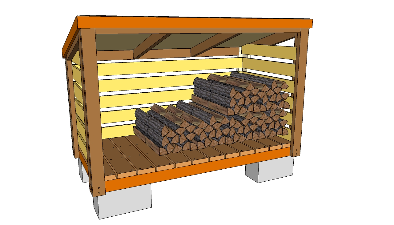 free wood storage shed plans