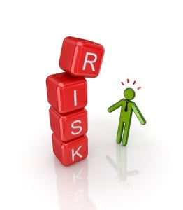 Image of Concept -- Risk-- Blocks falling
