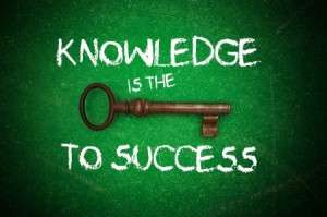"Image of Key saying ""Knowledge is the key to Success"""