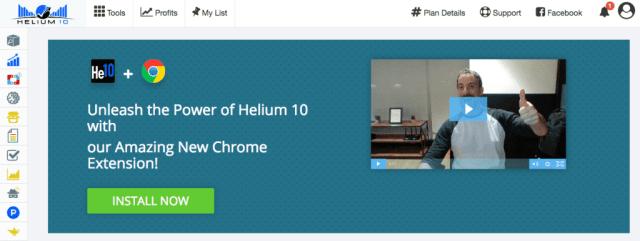 Obtenez l'extension Helium 10 Chrome