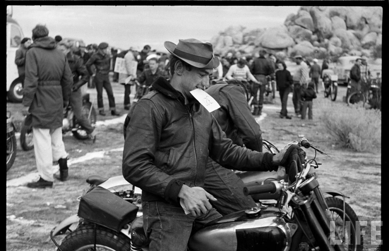National Motorcycle Race II.  Helmet optional.  Floppy felt hat - a must.