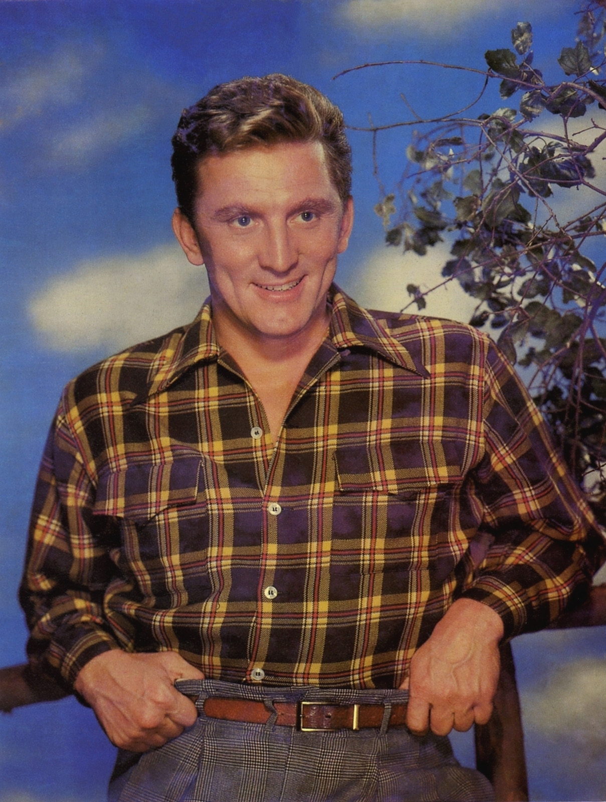 """Kirk Douglas.  Pattern mixing was big for Fall, with guys everywhere layering tartans and buffalo checks-- but beyond the """"in your face"""" look is the subtle art of the gentleman who can do it with a much more subtle and dapper affect."""