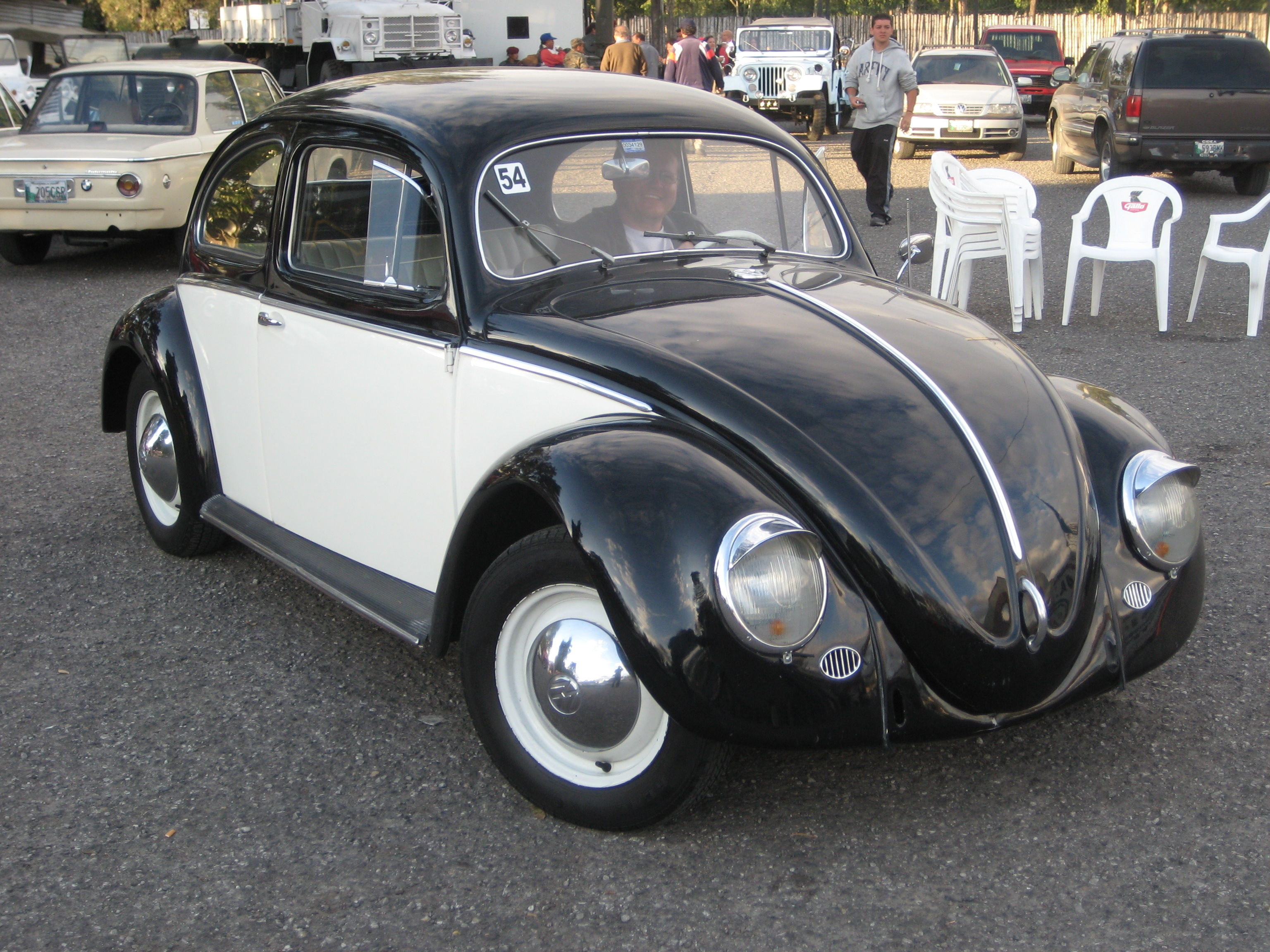 black white vw bug