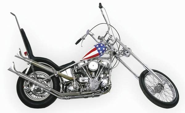 The iconic Captain America chopper from the 1969 film-- Easy Rider