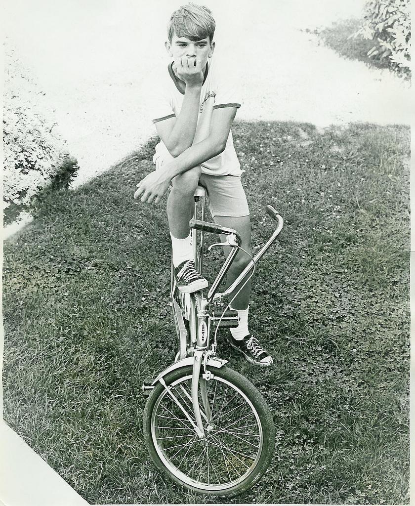 The Schwinn Stingray- sparking a boy's love affair with wheels.