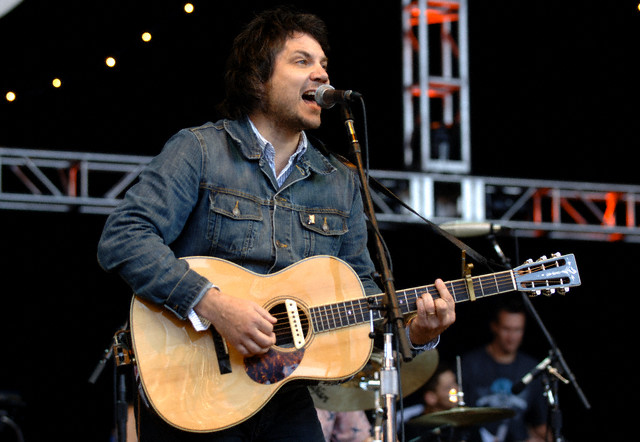 Jeff Tweedy of Wilco performs at the 22nd Annual Bridge School Benefit at the Shoreline Amphitheatre in Mountain View, 2008.