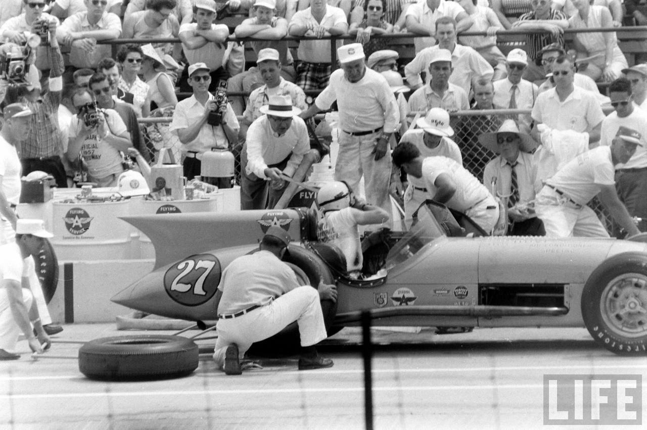The 1957 Indy 500 race to innovation.