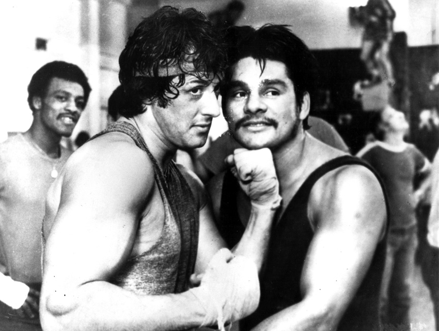 """Sylvester """"Sly"""" Stallone and boxing great Roberto Duran back in the Rocky days."""