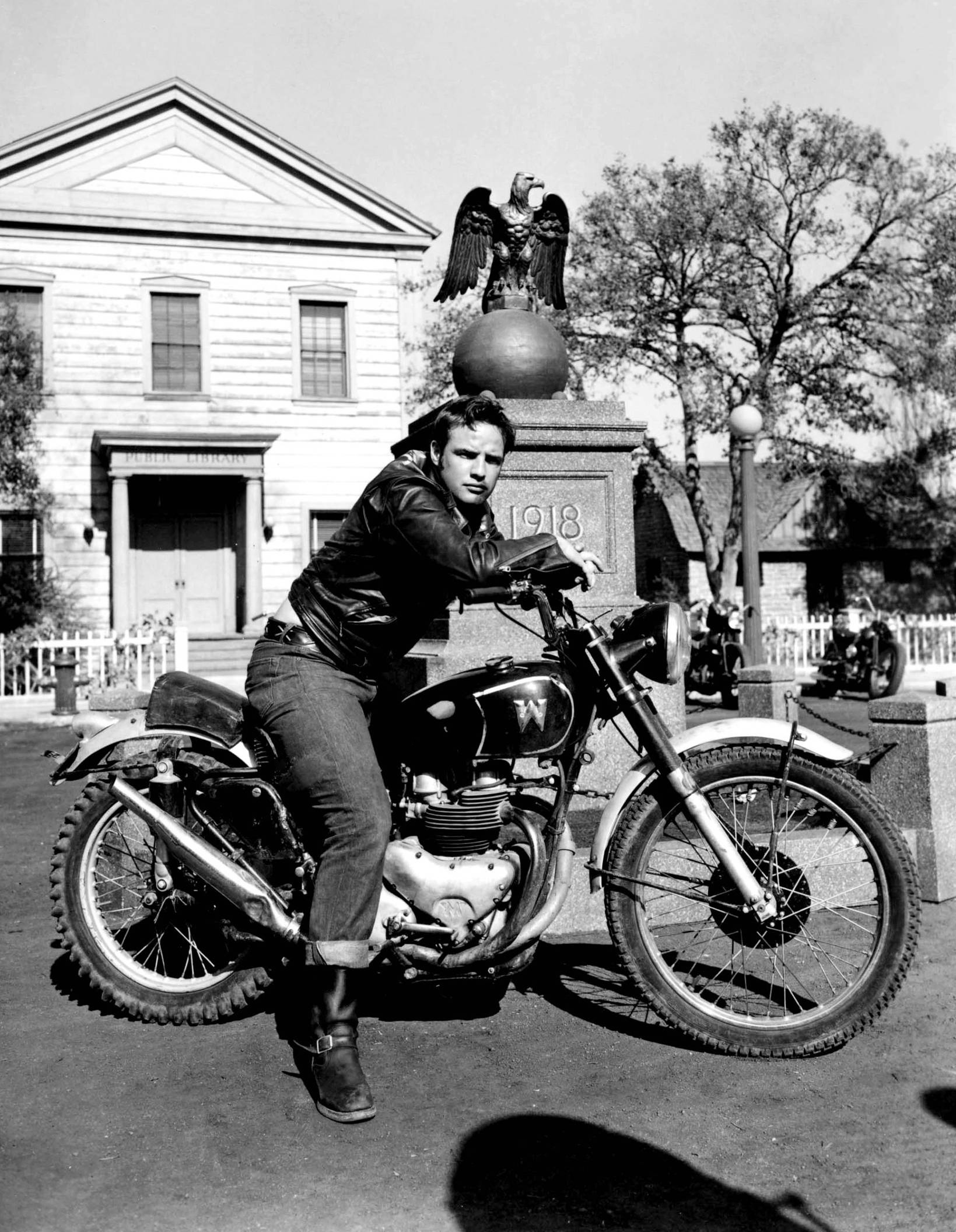 Marlon Brando The Wild One Matchless motorcycle
