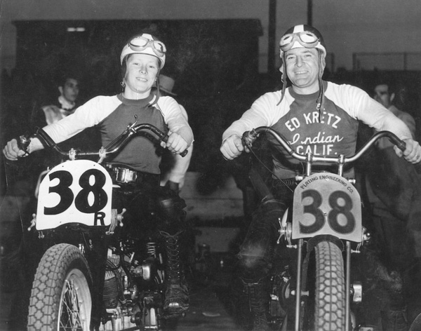 The Kretz father and son motorcycle racing legends.