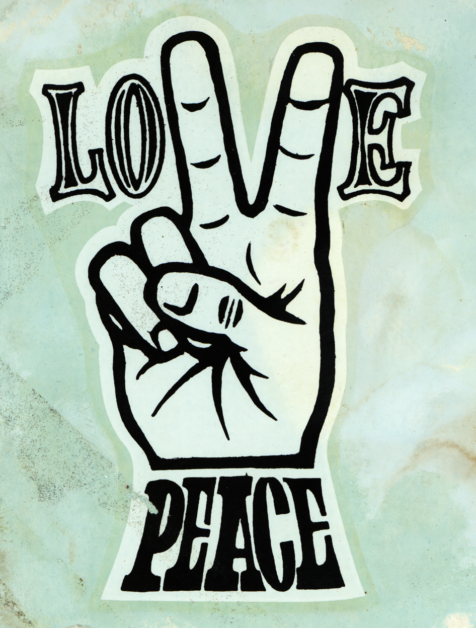 "Ed ""Big Daddy"" Roth love & peace decal"