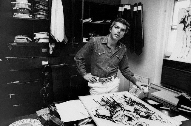 American fashion icon Ralph Lauren working in his office --1971.