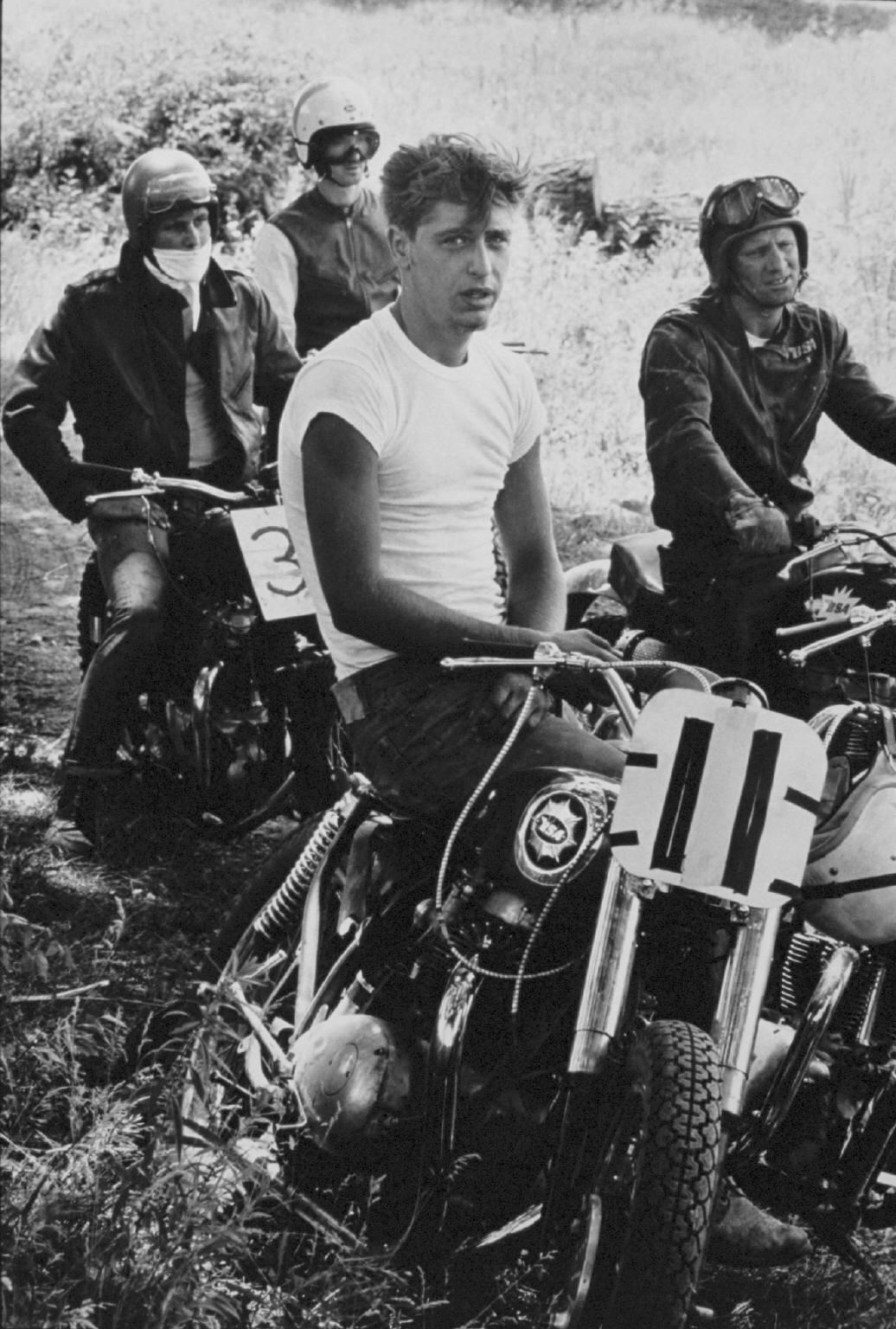 """""""Racers, McHenry, Illinois"""" from The Bikeriders by Danny Lyon  --circa 1963-66."""