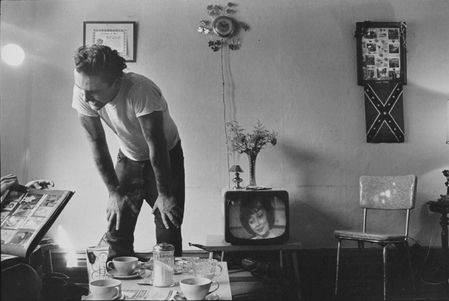 """""""Corky at home"""" from The Bikeriders by Danny Lyon  --circa 1965-66."""