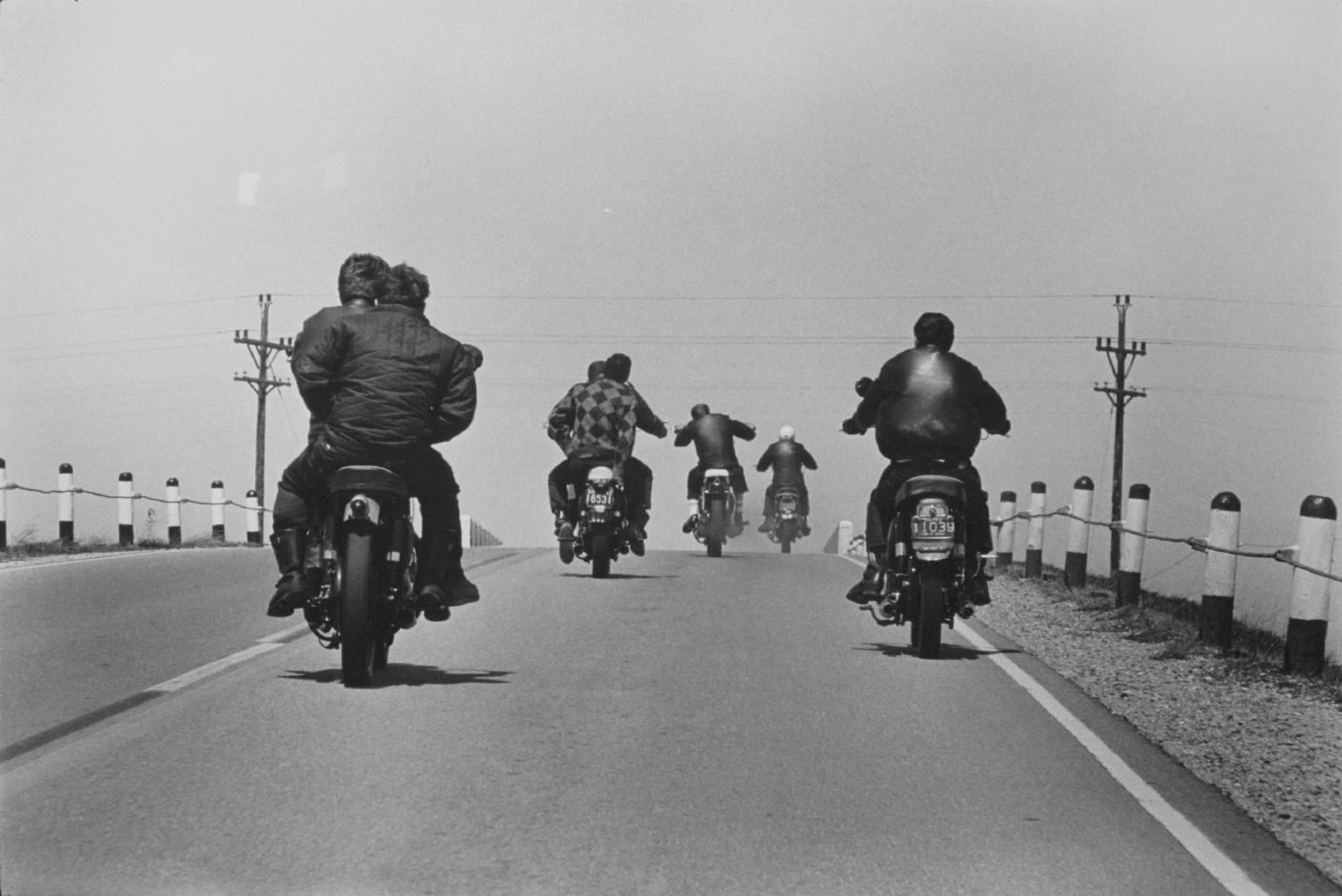 """""""Route 12, Wisconsin"""" from The Bikeriders by Danny Lyon."""