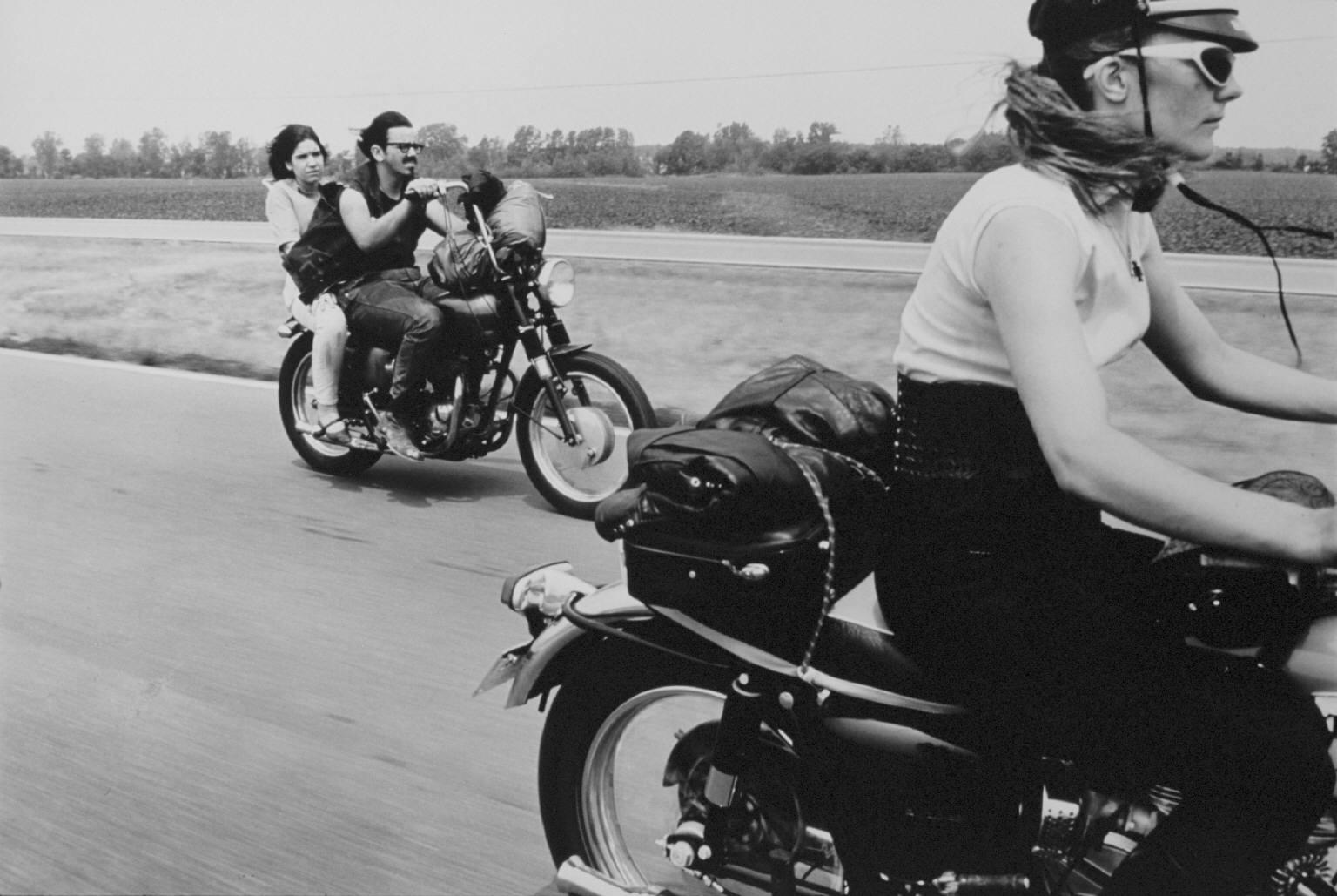 """""""From Dayton to Columbus, Ohio"""" from The Bikeriders by Danny Lyon  --circa 1965-66."""