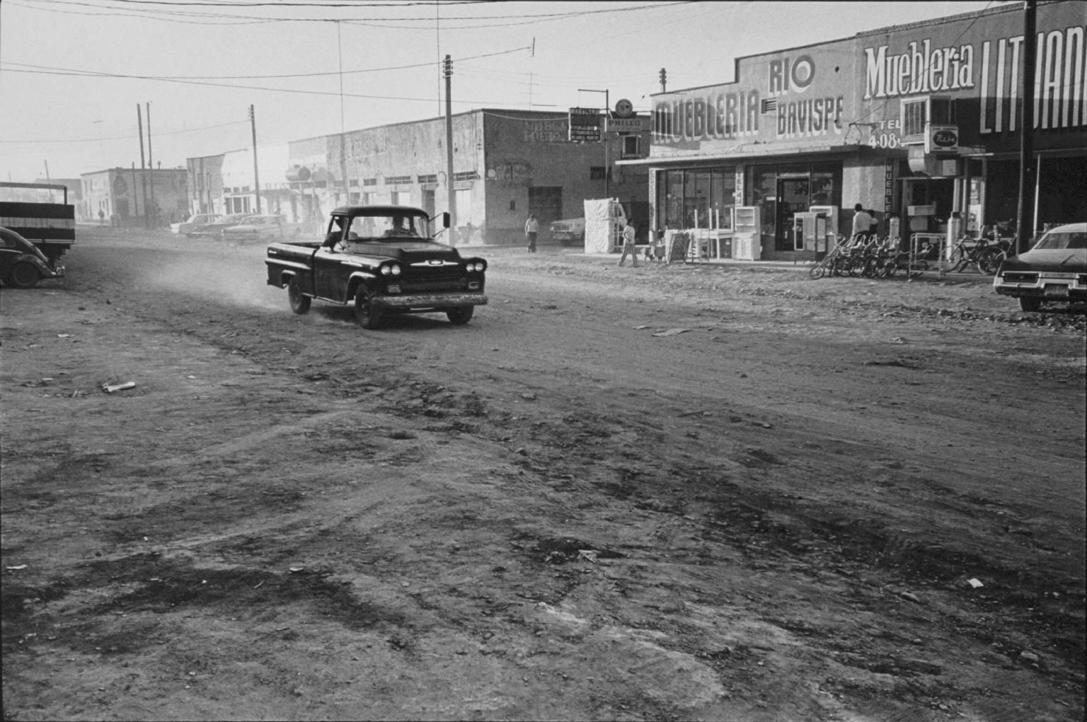 """Chevrolet Nueva Casas Grande, Chuhuahua, Mexico"" from The Paper Negative by Danny Lyon  --1975."