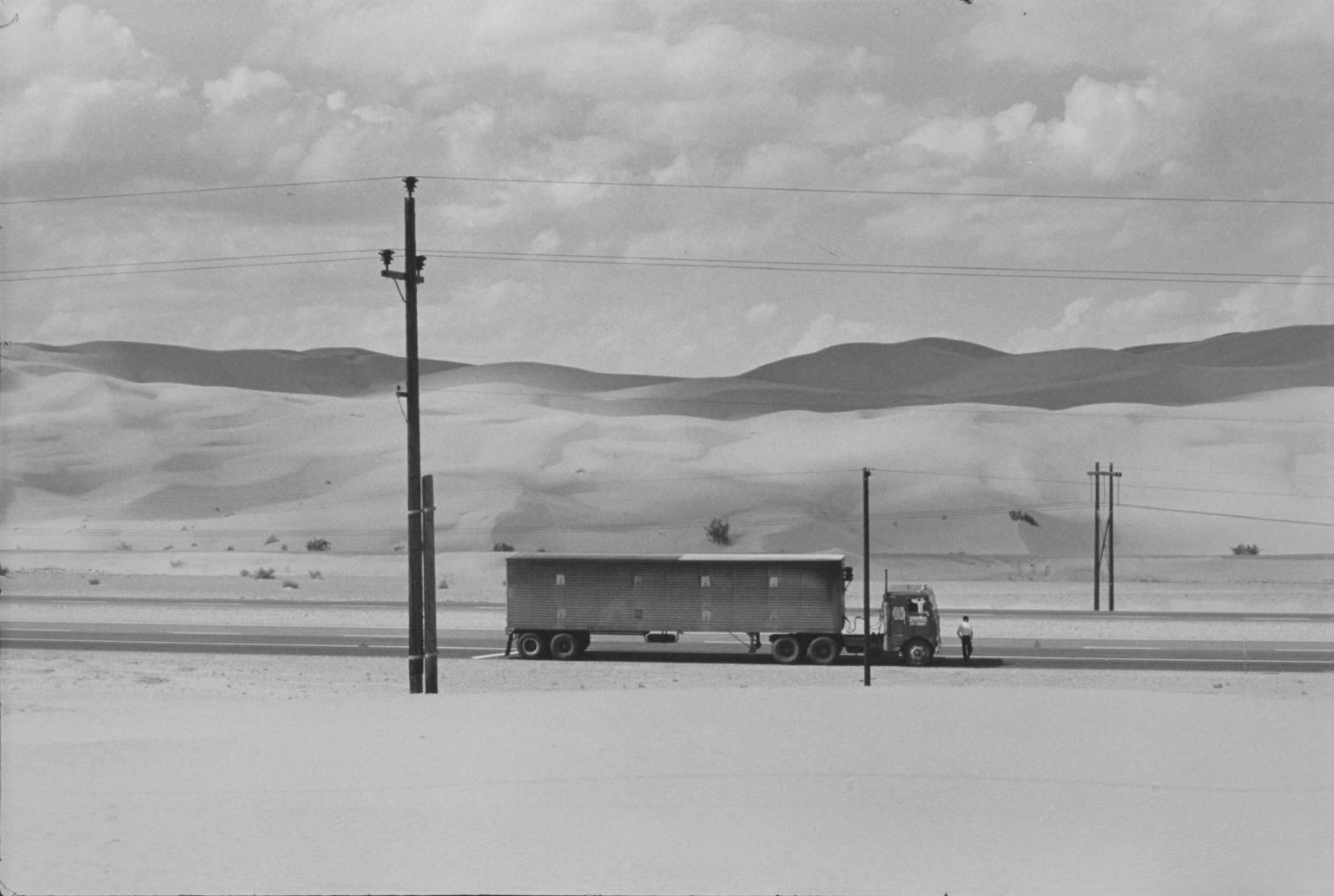 """""""Truck in the Desert, Yuma, California"""" Pictures from the New World by Danny Lyon  --1962."""
