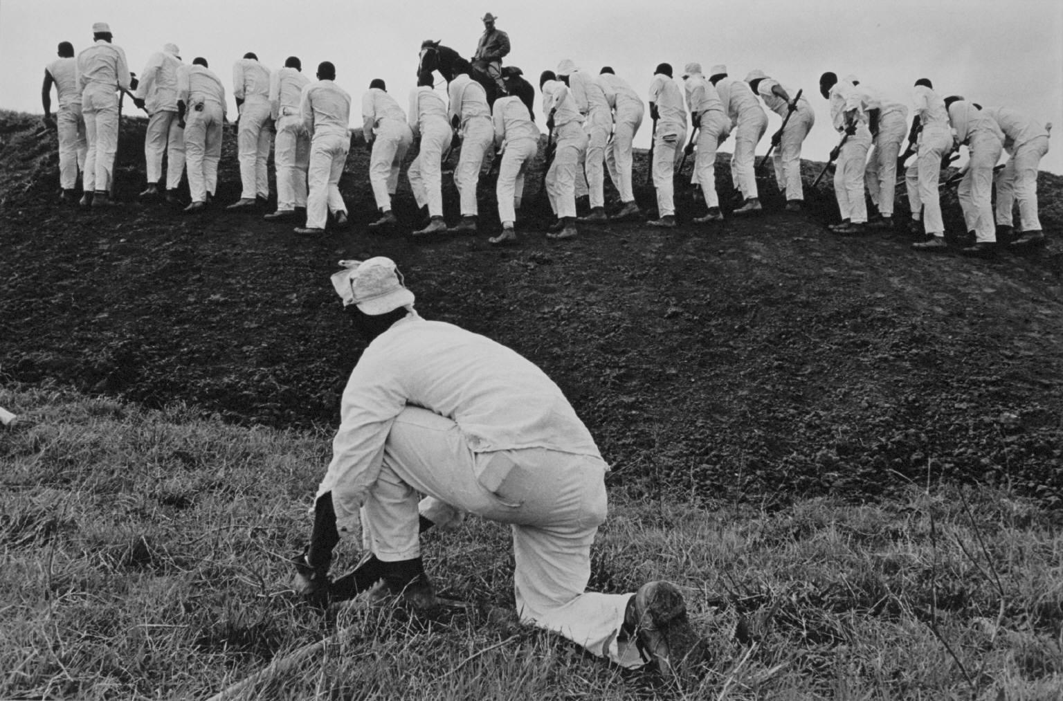 """""""Hoe sharpener and the Line"""" from Conversations with the Dead by Danny Lyon  --circa 1967-68."""