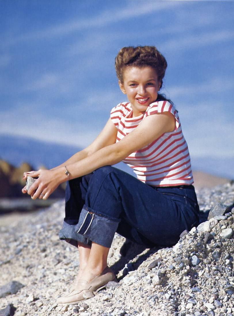 Marilyn Monroe jeans selvage