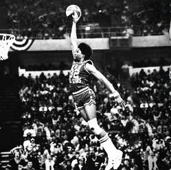 Julius Erving free throw dunk