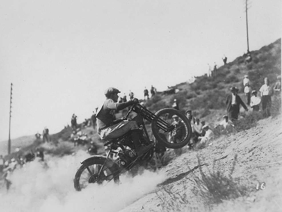 Oakland Motorcycle Club hill-climber