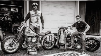 A HOLLYWOOD MEL STULTZ TROG THE RACE OF GENTLEMEN WILDWOOD HARLEY DAVIDSON MOTORCYCLE PHOTO